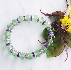 ❤ 4 for $25 ❤ Green Purple Marano Glass Bracelet